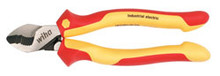 "Wiha 32927 - 8"" Insulated Serrated Jaw Cable Cutters With Industrial Brushed Finish"