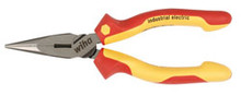 "Wiha 32926 - 6.3"" Insulated Long Nose Pliers With Industrial Brushed Finish"