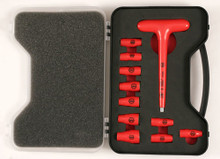 "Wiha 11pc 1/4"" Drive Insulated Socket Set with T-Handle Driver - Wiha 31395"