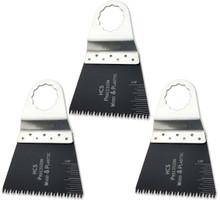 Oshlun MMS-1103 2-2/3-Inch Precision Japan HCS Oscillating Tool Blade for Fein SuperCut (3-Pack)