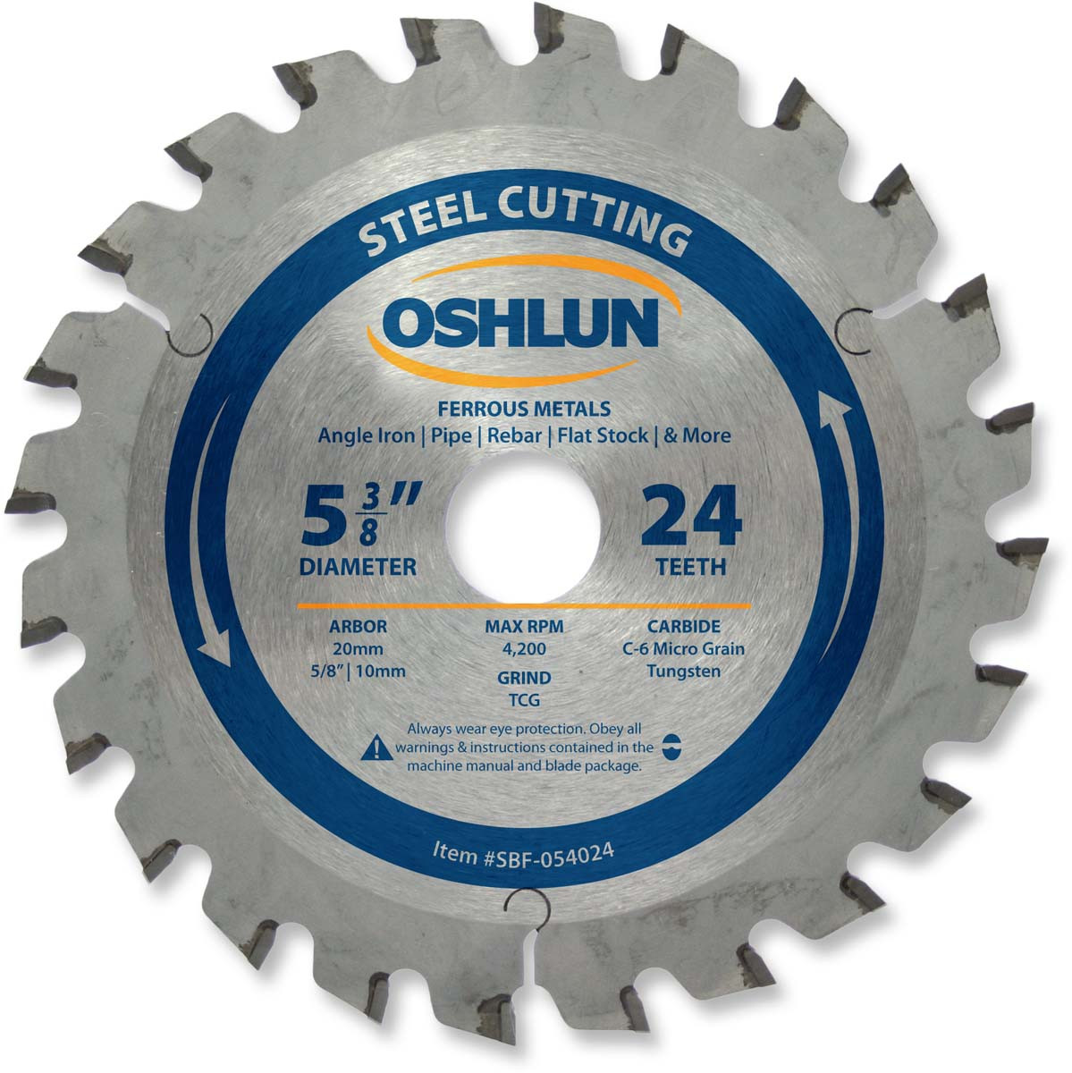 Ferrous saw blade 5 38 x 24t x 20mm arbor oshlun sbf 054024 greentooth Image collections