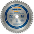 Oshlun SBF-075048 7-1/2-Inch 48 Tooth TCG Saw Blade with 20mm Arbor (5/8-Inch Bushing) for Mild Steel and Ferrous Metals