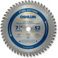 Oshlun SBF-072552 7-1/4-Inch 52 Tooth TCG Saw Blade with 5/8-Inch (Diamond Knockout) for Mild Steel and Ferrous Metals