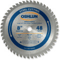 Oshlun SBF-080048 8-Inch 48 Tooth TCG Saw Blade with 5/8-Inch Arbor (Diamond Knockout) for Mild Steel and Ferrous Metals