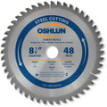 Oshlun SBF-082548 8-1/4-Inch 48 Tooth TCG Saw Blade with 1-Inch Arbor (5/8-Inch Bushing) for Mild Steel and Ferrous Metals