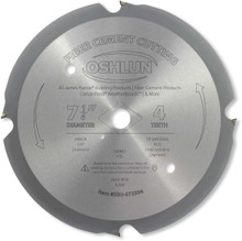 Oshlun SBH-072504 7-1/4-Inch 4 Tooth PCD Saw Blade with 5/8-Inch Arbor (Diamond Knockout) for Fiber Cement