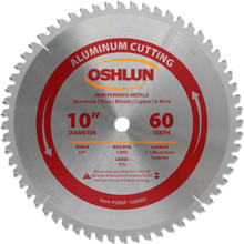 Oshlun SBNF-100060 10-Inch 60 Tooth TCG Saw Blade with 5/8-Inch Arbor for Aluminum and Non Ferrous Metals