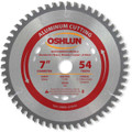 Oshlun SBNF-070054 7-Inch 54 Tooth TCG Saw Blade with 20mm Arbor for Aluminum and Non Ferrous Metals