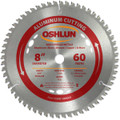 Oshlun SBNF-080060 8-Inch 60 Tooth TCG Saw Blade with 5/8-Inch Arbor (Diamond Knockout) for Aluminum and Non Ferrous Metals