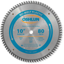 Oshlun SBP-100080 10-Inch 80 Tooth MTCG Saw Blade with 5/8-Inch Arbor for Plastics