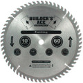 Oshlun BAW-100060 10-Inch 60 Tooth Builder's Ace Finishing ATB Saw Blade with 5/8-Inch Arbor