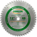 Oshlun SBW-120048 12-Inch 48 Tooth ATB General Purpose Saw Blade with 1-Inch Arbor
