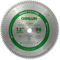 Oshlun SBW-120096 12-Inch 96 Tooth ATB Fine Finishing Saw Blade with 1-Inch Arbor