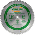 Oshlun SBW-160064 16-Inch 64 Tooth ATB General Purpose Saw Blade with 1-Inch Arbor
