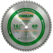 Oshlun SBW-164060 16-5/16-Inch 32 Tooth Beam Saw ATB Saw Blade with 1-Inch Arbor