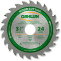 Oshlun SBW-034024 3-3/8-Inch 24 Tooth ATB General Purpose and Trimming Saw Blade with 15mm Arbor