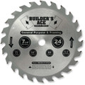 Oshlun BAW-072524 7-1/4-Inch 24 Tooth ATB Builder's Ace General Purpose and Framing Saw Blade with 5/8-Inch Arbor (Diamond Knockout)
