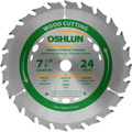 Oshlun SBW-072524 7-1/4-Inch 24 Tooth ATB General Purpose and Framing Saw Blade with 5/8-Inch Arbor (Diamond Knockout)