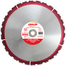 Oshlun SBR-CH12 12-Inch Carbide Chunk Blade with 1-Inch Arbor (7/8-Inch and 20mm Bushings) for Rescue and Demolition