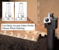 Vortex 9101 CNC Flat Table Dovetail Router Bit with Replaceable Inserts. Tool Body Accepts Square or Rounded Profiles.