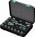"Wera 8100 SA3 15 Pc Zyklop Ratchet 1/4"" Drive Set Imperial"