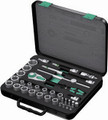 "Wera 8100 SC2 37 Pc Zyklop Ratchet 1/2"" Drive Set Metric"