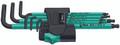 Wera 950 SPKL/7B SM 7 Pc Ball End Hex L-Key Set, 1.5-6.0mm