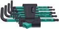 Wera 967 SPKL/9 9 Pc Torx Tamperproof / Ball End Torx L-Key Set, T8-T40