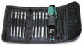 Wera KK 43 11 Pc Kraftform Kompakt Screwdriver Set (Ph/Txbo/Sq) With Pouch