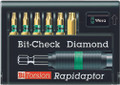 Wera 8767-6/BDC RAPIDAPTOR 6 Pc Diamond Coated Bit Set (Tx)