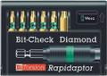 Wera 8767-6/BDC RAPIDAPTOR 6 Pc Diamond Coated Bit Set (Tx)