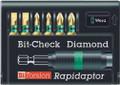 Wera 8700-6 PH/BDC RAPIDAPTOR 6 Pc Diamond Coated Bit Set (Sl/Ph)