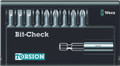 Wera 8100/9/899/TZ BIT-CHECK 9 Pc Bit Set (Sl/Ph/Pz)