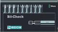 Wera 8100/9/899/TZ BIT-CHECK 9 Pc Bit Set (Sl/Ph/Pz)