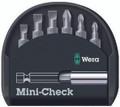 Wera MINI-CHECK PH  7 Pc Assorted Insert Bit Set W/Bitholder