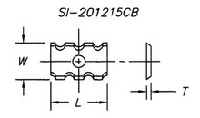 Reversible Insert Knife, Chipbreaker Design - Carbide Processors I-501215CB