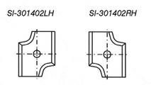 Radius Insert Knife - Carbide Processors I-301402RH