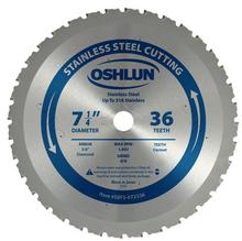 Ferrous & Stainless Steel Cutting Cermet Tipped Bl - Oshlun SBFS-072536