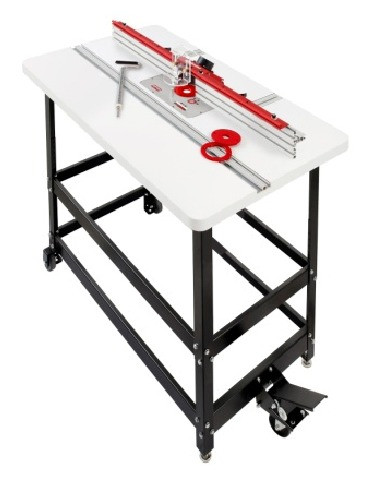 Router table set 27x43 laminated w triton tra001 router woodpeckers prp 3 premium router table package 3 with triton router greentooth Gallery