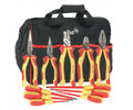 Insulated Pliers/Cutters, Slotted & Phillips Screwdriver Set, 11 Piece , Wiha 301-32390