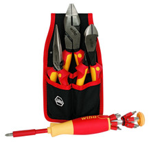 Insulated Industrial Pliers/Cutters & Pop-Up Insert Bit Set, 17 Piece , Wiha 301-32990