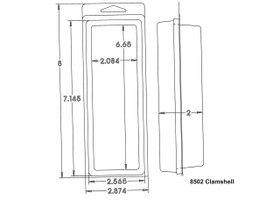 8502 Clamshell Sample