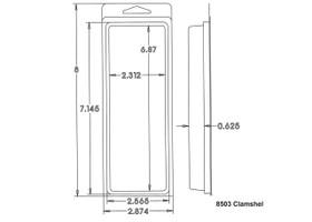 8503 Clamshell Sample
