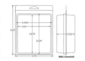 9001 Series Clamshell