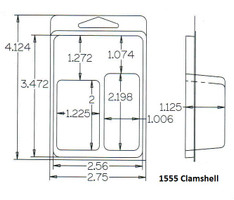 1555 Series Clamshell