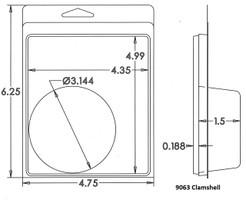 9063 Clamshell Sample
