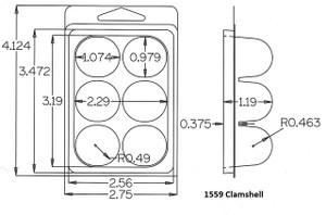 1559 Clamshell Sample