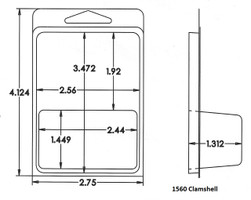 1560 Clamshell Sample