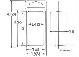 7001 Series Clamshell Sample