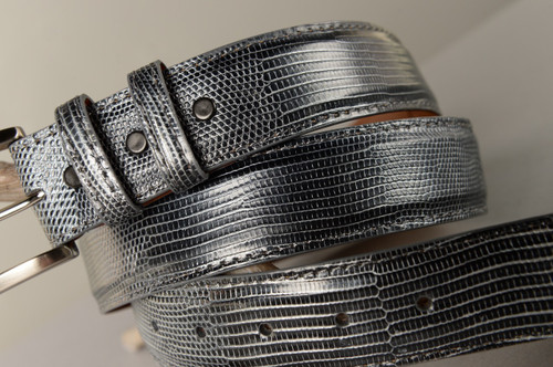 Lizard Belt - Glazed Pewter